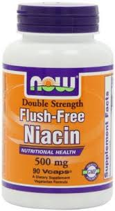NOW Foods <b>Flush Free Niacin Double Strength</b>, 500mg, 90 ...