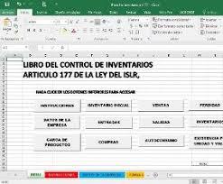 Inventario Excel Libro Control De Inventarios Excel Art177 Ley Islr R M