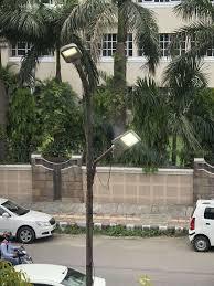 Pole Lights India Streetlight Pole With 2 Led Lights Times Of India