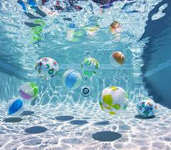 pool water with beach ball. Unique Pool Water With Beach Ball In Swimming Vertical Stock Photo N