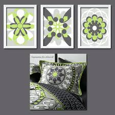 lime green wall decor colorful bold grey lime green charcoal flourish artwork set of 3 trio lime green wall decor  on lime green wall art prints with lime green wall decor lime green canvas prints green wall art and