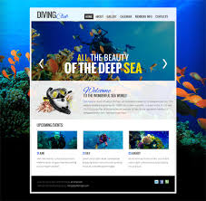 free html5 web template diving club free html5 template html5 mania
