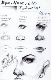 how to draw eyes nose and mouth pinteres