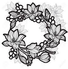 Tattoo Art Flowers Hand Drawing And Sketch Black And White With