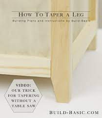 how to taper a leg build basic