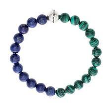 steve madden men s simulated lapialachite bead stretch bracelet