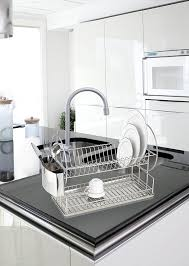 Kitchen Dish Rack Amazoncom Wenko 2329100 Dish Rack Exclusive Duo Drip Rack For