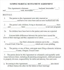 Marriage Separation Agreement Form California. Marriage Separation ...