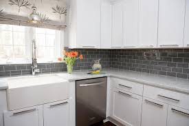 kitchen backsplash grey subway tile. White Kitchen Cabinets With Gray Subway Tile Backsplash Kitchen Backsplash Grey Subway Tile I