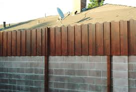 block wall fence topper image to enlarge block wall wood fence top block retaining wall