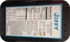 jiffy cornbread nutrition. Interesting Jiffy Americau0027s Favorite Jiffy Corn Muffin Mix 85 Oz Box Cornbread Fritters Intended Nutrition O