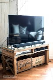 how to make a diy pallet wood tv media stand nice project