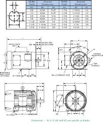 nema reference chart electric motors