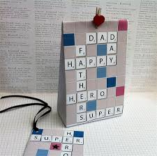 Homemade Gift Vouchers Templates Adorable DIY Scrabbleinspired Father's Day Gift Bag Template Father's Day