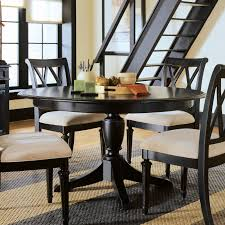alluring black dining room table 6 wooden legs potted plants modern and white area