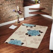 achillea cream teal rugs by ultimate rug 1