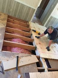 Leveling Kitchen Floor How To Level Your Mobile Home Floor Home The Ojays And Home