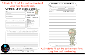 How To Write A Good Book Review A Halloween Themed Book Review Cinnamons Classroom