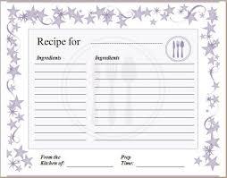 Recipe Blank Template Recipe Blank Template Acepeople Co