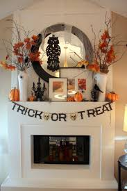 Blended Fall & Halloween Mantel