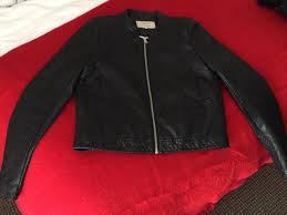 zara trafaluc leather jacket size medium