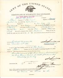 Certificate Of Disability For Discharge For Private Otto Zoeller