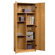 Unfinished Wood Storage Cabinet Sauder Beginnings Highland Oak 4 Shelf Storage Cabinet4133263 Rawjpg