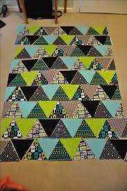Best 25+ Triangle quilt pattern ideas on Pinterest   Baby quilt ... & Triangle Quilt tutorial- a different way to arrange triangles Adamdwight.com