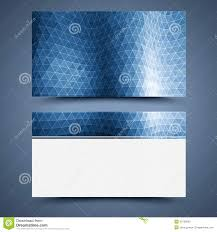 Blue Business Card Template Abstract Background Stock