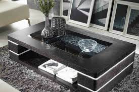 black centre table with glass top for