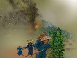 「1707年 - 富士山が噴火し、宝永山が出現」の画像検索結果