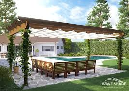 full image for pergola awning retractable total cover awnings shade and shelter experts wooden pergola retractable