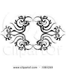 Clipart Black And White Tribal Frame Tattoo Design Element Royalty