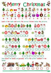 worksheet: CHRISTMAS CRYPTOGRAM