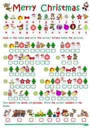 worksheet: CHRISTMAS CRYPTOGRAM