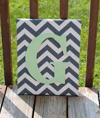 personalized grey chevron with mint green initial canvas wall art 11 x14 customized boys and girls room decor photo prop home decoration on mint green canvas wall art with personalized grey chevron with mint green initial canvas wall art 11
