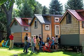 tiny house denver. People Line Up In Front Of One The Tiny Hotels For Their Turn To See House Denver T