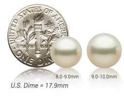 Pearl Size Chart Actual Size Pearl Sizes