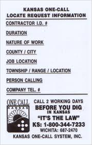 Apwa Uniform Color Code Chart Kansas One Call Always Call 811 Before You Dig