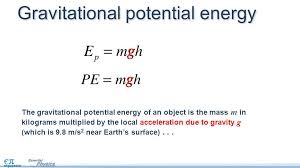 gravitational potential energy equations the change in