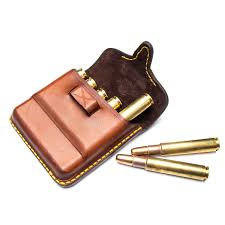 african leather bullet pouch