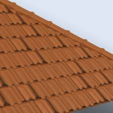 cad files for french terracotta roof tiles