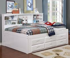 Full Size Bookcase Captains Day Bed in White 0223