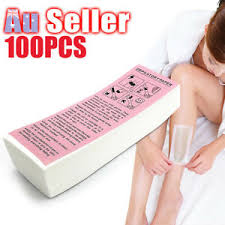 <b>100pcs Non</b>-<b>woven</b> Honey Thick Strip <b>Wax Disposable</b> Hair ...