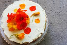 diy passion fruit cake with flowers via rebels kitchen