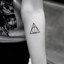 Deathly Hallows Symbol Tattoo On The Left Inner Forearm Mini 3