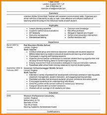 Sample Resume For Teachers Job 7 Cv Sample For Teaching Job Theorynpractice