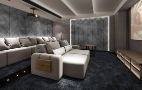 decorating luxury home interior design with cinema seating using from popular home theater sofa trends