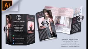 make tri fold brochures how to make tri fold brochure fitness club illustrator tutorial