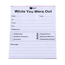 Telephone Message Telephone Message Pad While You Were Out Pads4082 Cos Complete